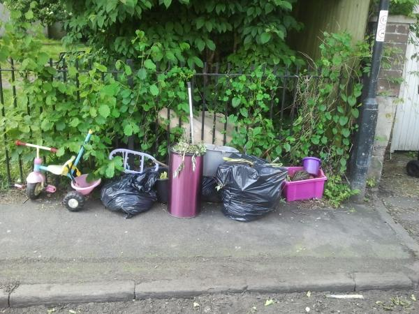 cfly-tipping in Nicholas Road