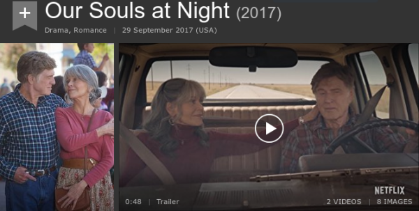 film title is Our Souls At Night