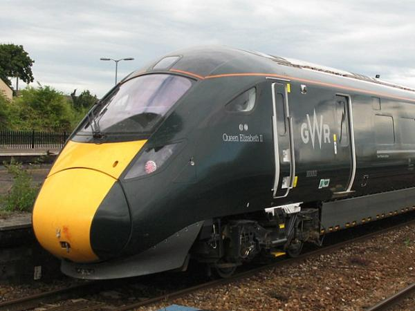 800 Class locomotive in GWR livery
