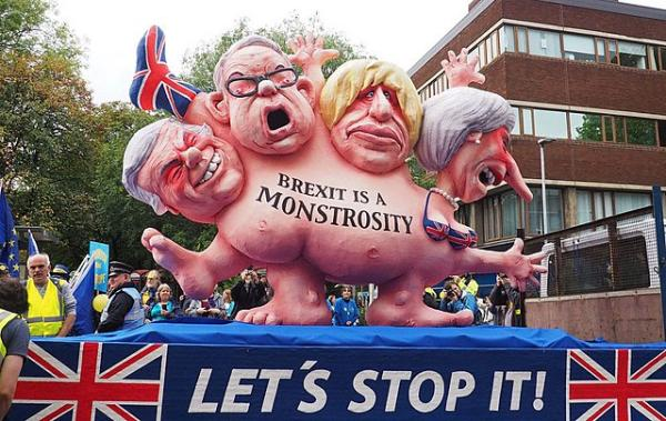 Brexit Monstrosity float in Manchester