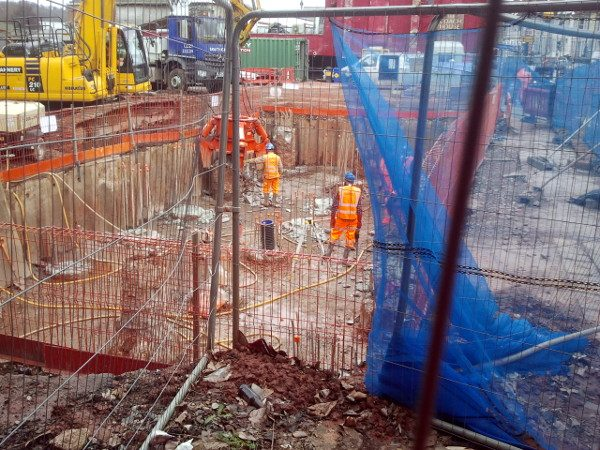 Piling works for the new viaduct