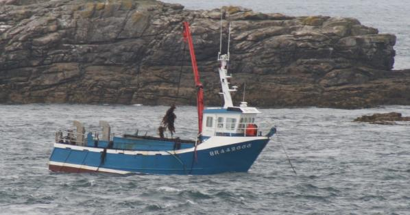 A scoubidou in action off the coast of Brittany