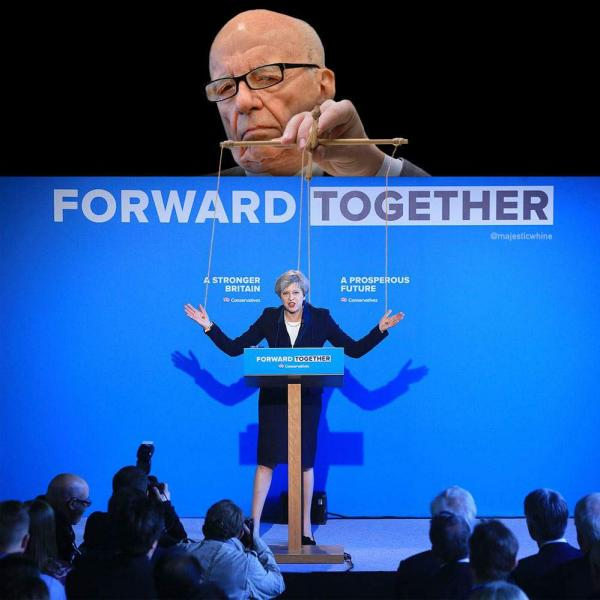 Rupert Murdoch, Theresa May's puppeteer