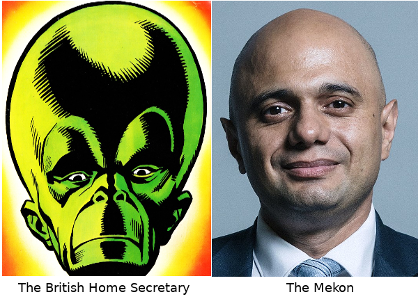 The British Home Secretary and The Mekon