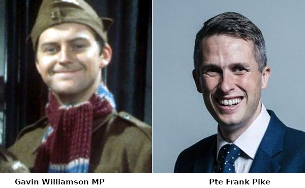 Composite of Private Pike and Gavin Williamson