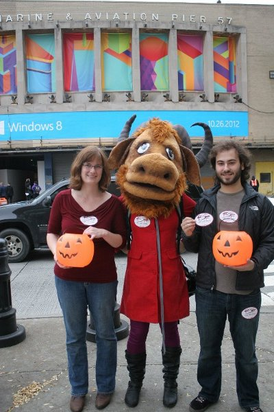 The FSF crew at NYC Windows 8 launch