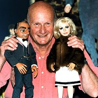 image of Gerry Anderson with Parker & Lady Penelope