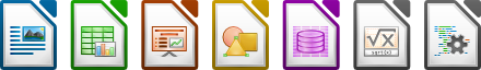 image of LibreOffice Mime type icons