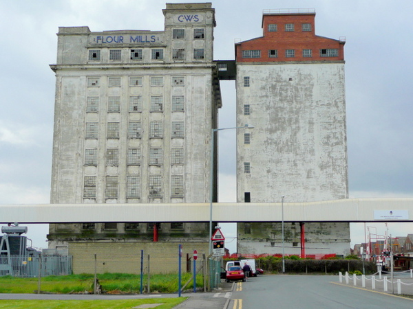 Now disappearing from the Avonmouth skyline - CWS' silos.