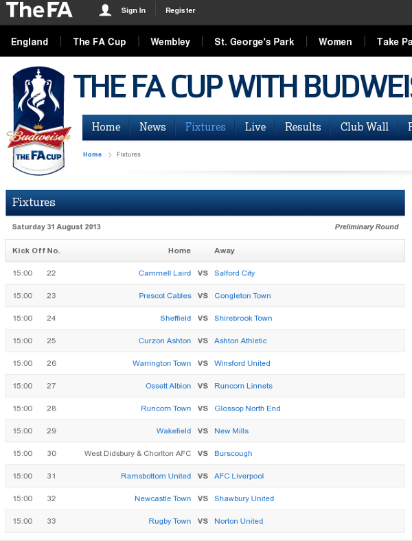 fa cup fixtures - photo #7