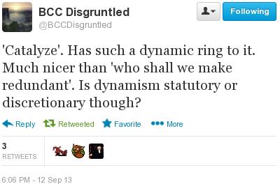 screenshot of BCCDisgruntled tweet