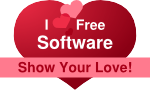 I love Free Software heart