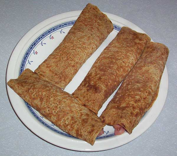 Filled Staffordshire oatcakes