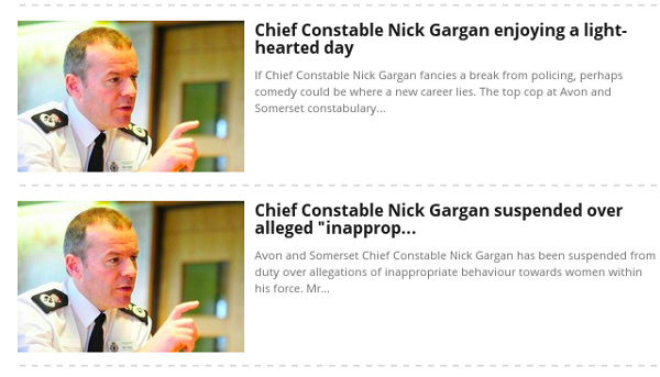 image of 2 news items on Nick Gargan