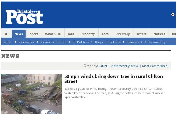screenshot of Post website showing dodgy wording