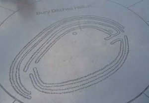 plan of Bury Ditches hill fort