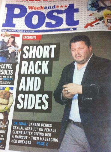 image of Bristol Post front page with sexist pun