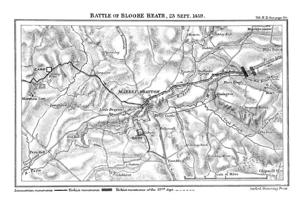 Plan of Battle of Blore Heath