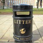 Bristol litter bin