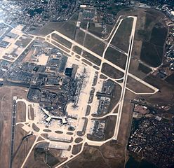 Orly airport viewed from the air