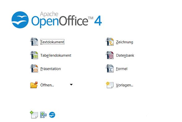 OpenOffice menu